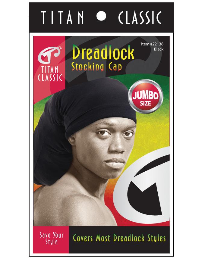 aa1f5049 Titan - Dreadlock Stocking Cap #22138 (Jumbo / BLK)