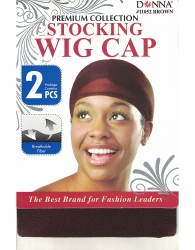 Donna - Stocking Wig Cap 2 pcs 11052 (Brown)