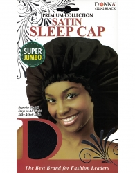 Donna - Satin Sleep Cap Super Jumbo 22242 (BALCK)