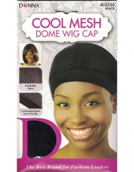 Donna - Cool Mesh Dome Wig Cap 22230 (BLACK)