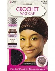 Donna - Crochet Wig Cap 22536 (BLACK)