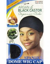 Donna - Organic Spandex Dome Wig Cap 22673 (BLACK)