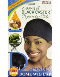 Donna - Organic Spandex Dome Wig Cap 22674 (BLACK)