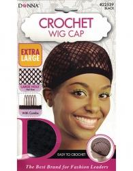Donna - Crochet Wig Cap 22539 (BLACK)