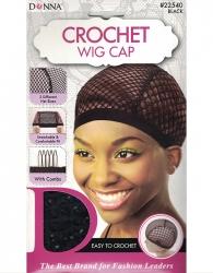 Donna - Crochet Wig Cap 22540 (LG / BLACK)