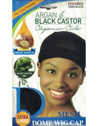 Donna - Organic Mesh Dome Wig Cap 22676 (BLACK)