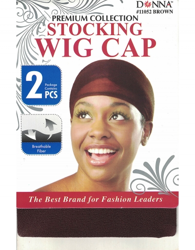 Donna - Stocking Wig Cap 2 pcs 11052 (Brown)
