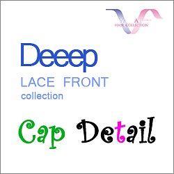 Deeep lace front collection's cap detail.