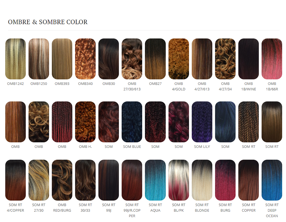 Zury Sis Color Chart