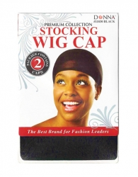 Donna - Stocking Wig Cap 2pcs 11030 Black