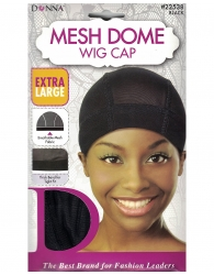 Donna - Mesh Dome Wig Cap Extra Large 22538 (BLACK)