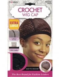 Donna - Crochet Wig Cap 22541 (BLACK)