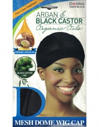 Donna - Organic Mesh Dome Wig Cap 22675 (BLACK)