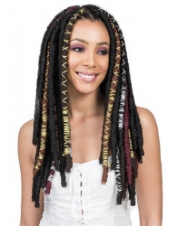 "Bobbi Boss - Crochet Braid Bae Locs 20"" Silver"