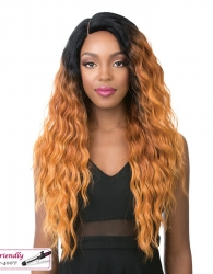 It's a wig Iron Friendly Swiss Lace Front wig SUN DANCE