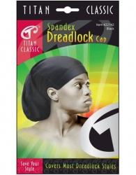 Titan - Spandex Dreadlock Cap #22142 (BLK)