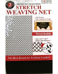 Donna - Stretch Weaving Nets #22405 (BLACK)