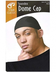 Titan - Spandex Dome Cap #11162 (BLK)