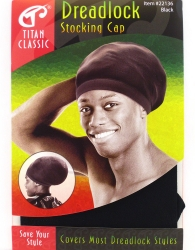 Titan - Dreadlock Stocking Cap #22136 (BLK)
