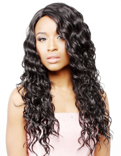 R&B collection Human Hair Blend Lace Front Wig HL-VIP