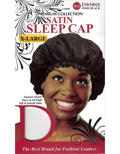 Donna - Satin Sleep Cap X-Large 11021 (BALCK)