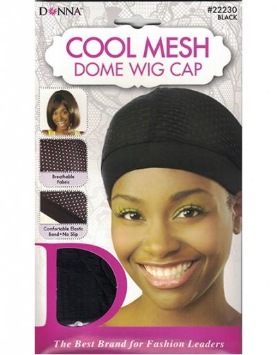 Donna - Cool Mesh Dome Wig Cap 22230 (BLACK)
