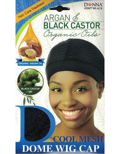 Donna - Organic Cool Mesh Dome Wig Cap 22677 (BLACK)