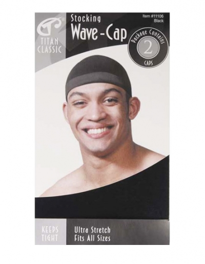 Titan - Stocking Wave Cap 2 pcs #11106 (BLK)
