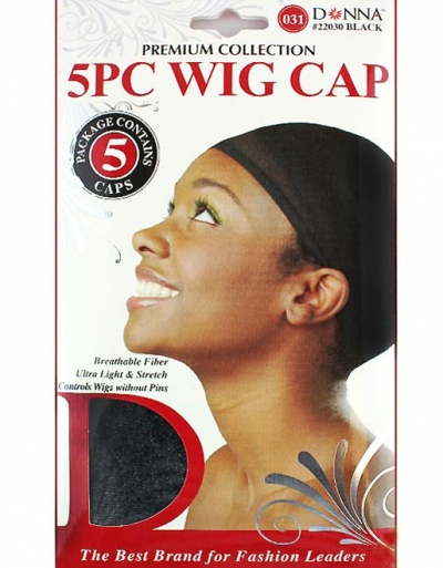 Donna - 5PC Stocking Wig Cap #22030 (BLK)