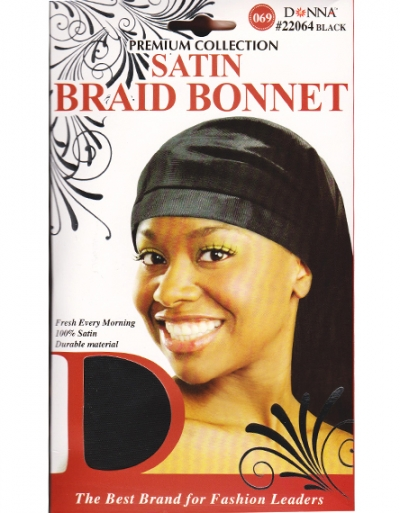 Donna - Satin Braid Bonnet #22064 (BK)