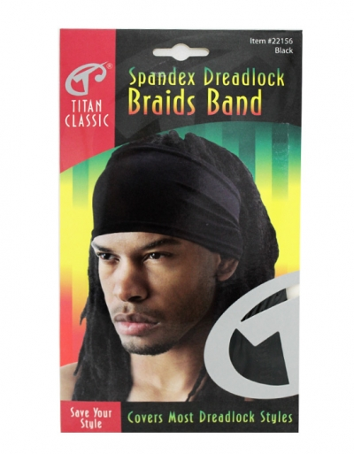 Titan - Spandex Dreadlock Braids Band #22156 (BLK)