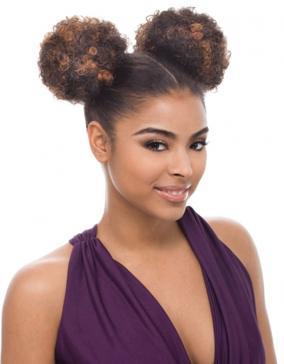 Janet Collection - Noir Afro Puff String (2pcs)