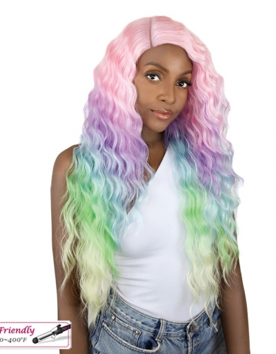 It's a wig Unicorn Color Wig Unicorn Sun Dance