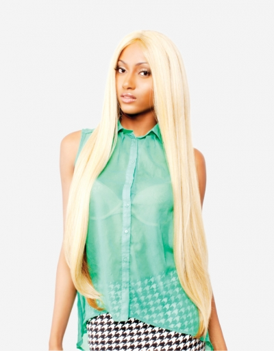 R&B collection Human Hair Blend Lace Front Wig HL-TEMPLE